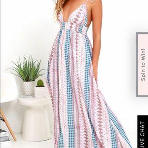 Lulus maxi boho dress